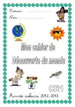 Pages de garde pour les cahiers CE1 ou CE2