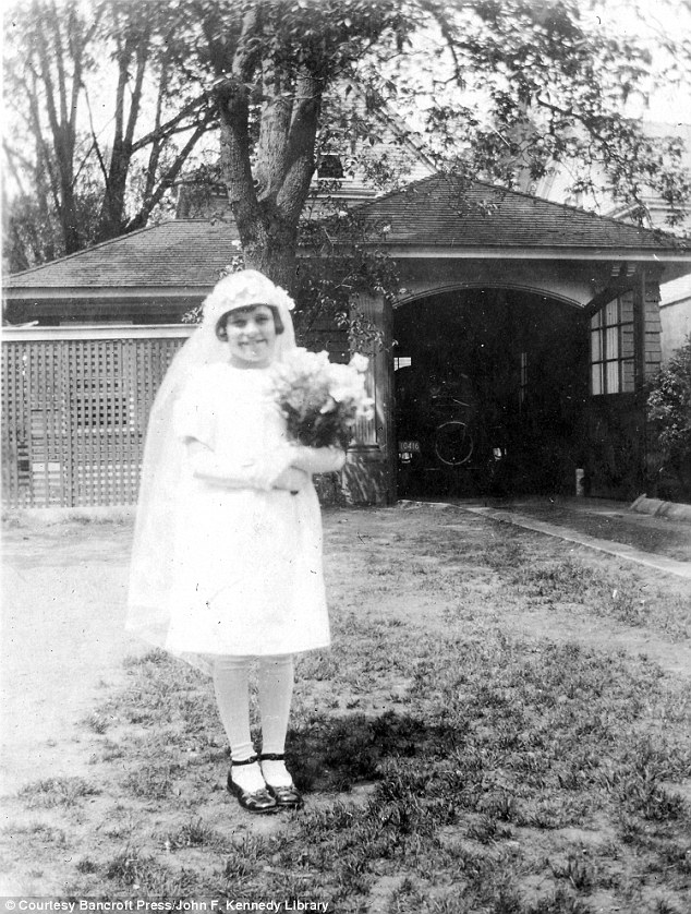 Religious: Rosemary's First Communion in 1926. Joe Kennedy consulted the head of the Psychology Department at Harvard University, his alma mater, where they conducted mental faculty tests on Rosie and diagnosed her as 'mentally retarded' and suggested institutionalization