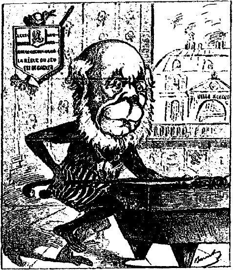 Caricature de Jules Grévy parue dans La ménagerie politique
