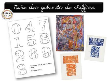 """Atelier """"à la manière de"""" Jasper Johns : 0 à 9"""