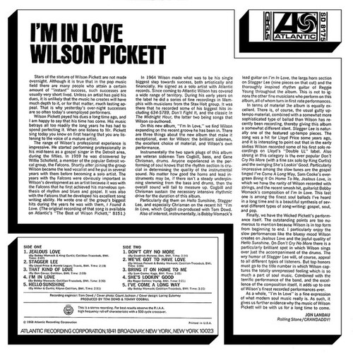 "Wilson Pickett : Album "" I'm In Love "" Atlantic Records SD 8175 [ US ]"