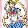 Sailor moon | fanart aux encres de couleur et aquarelle