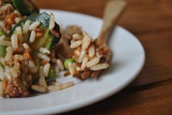 Salade de riz sauvage (Wild rice salad)