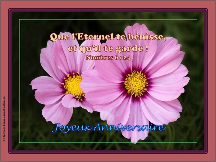 Joyeux Anniversaire - Nombres 6 : 24