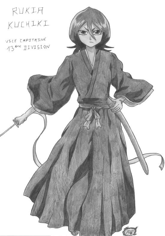 manga bleach - rukia