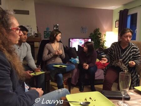 Sonia, Mario, Gaëlle, Noémie, Isabelle