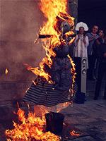 La crémation de l'épouvantail de Mardi Gras, la Russie