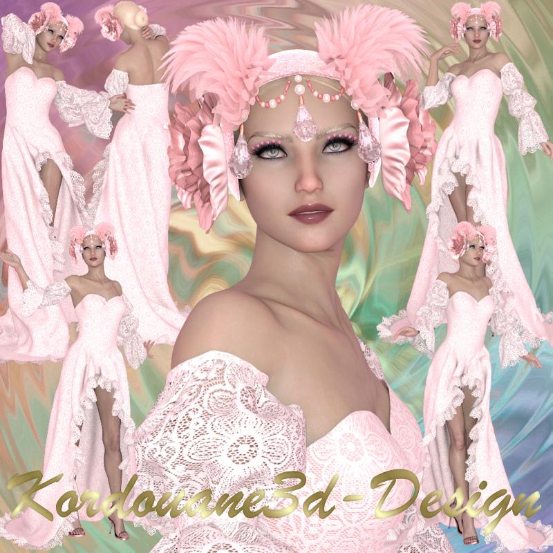 Pink Fantasya : Femme fantasy en rose