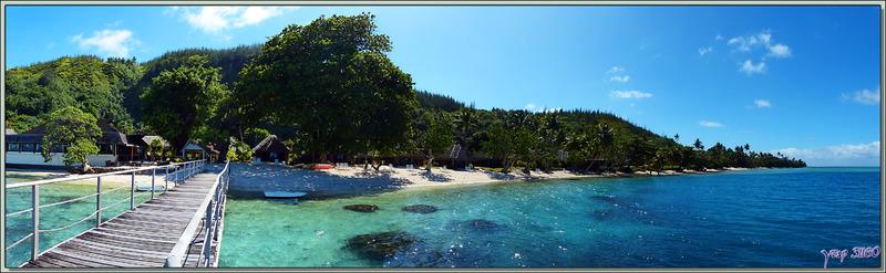 La Baie d'Avea vue du ponton de l'hôtel Relais Mahana - Huahine - Polynésie française