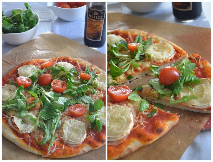 Pizza au Chèvre {Mâche & Roquette}