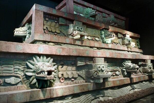 Mexico Musée Temple de Quetzalcoatl