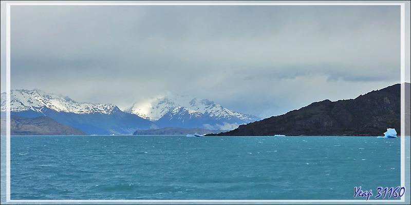 Après avoir franchi la Boca del Diablo, nous accédons au Brazo Norte du Lago Argentino - Patagonie - Argentine