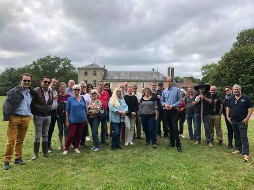 Les Amis du Pont-Paillat au château de la Boulaie....