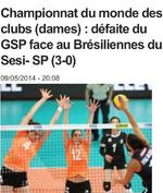SESI SP (Brésil)-GSP (ex MCA) 3-0