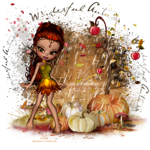 "Tutoriel ""Wonderful Autumn"" de JustCinn's PSP Creations"