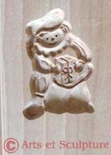 Moule à biscuit artisanal en bois Père Fouettard ou Zwarte Piet - Arts et Sculpture: sculptrice sur bois