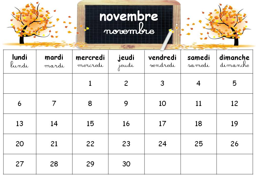 calendrier la semaine takvim kalender hd. Black Bedroom Furniture Sets. Home Design Ideas