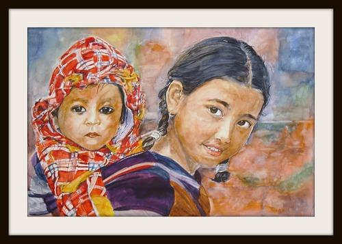 Fillettes du Népal