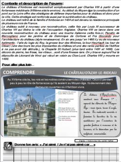 """Carte d'identité """"Châteaux de la Renaissance : Amboise"""""""