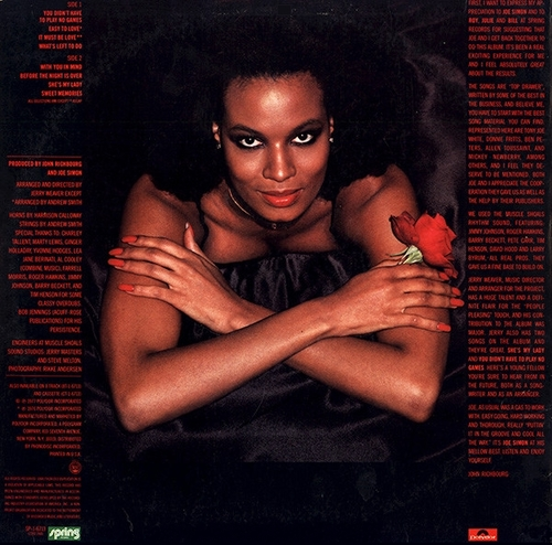 "Joe Simon : Album "" Easy To Love "" Spring Records SP-1-6713 [ US ]"