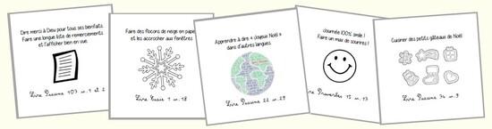 Cartes de calendrier de l'Avent