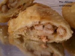 Panzerotti au poulet tandoori