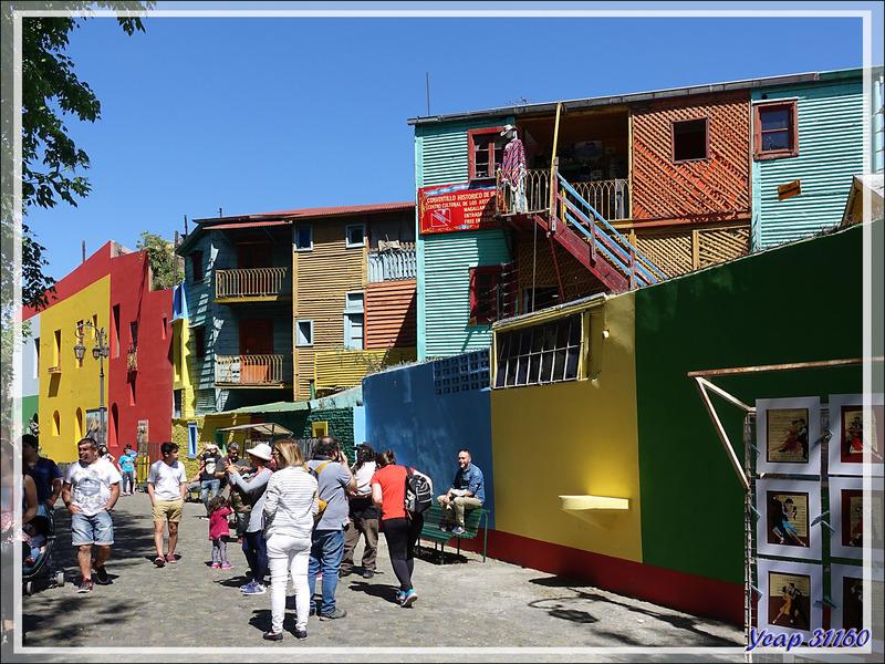 Premières images de notre voyage : les couleurs de la rue Caminito - Buenos Aires - Argentine