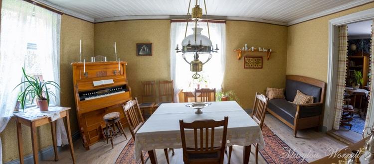 Suède : Écomusée Skansen deux intérieurs bourgeois