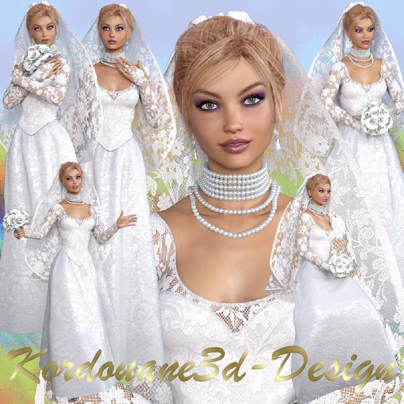 Lauretta : Mariée blonde (femme-tube-poser)