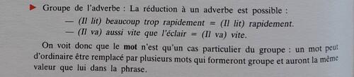 B / L'adverbe
