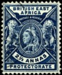 Stamp British East Africa 1896 2.5a