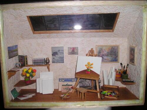 Atelier de peintre 2 pour Michèle