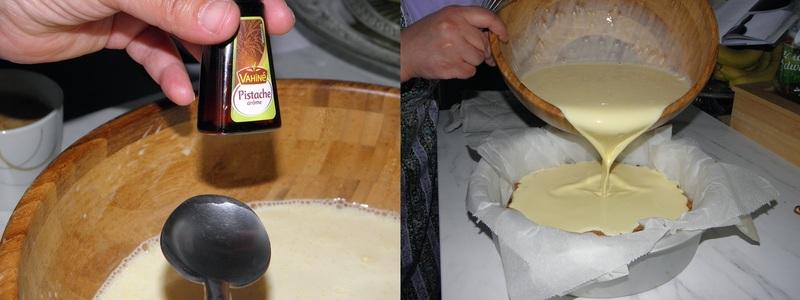 Cheesecake pistachiz