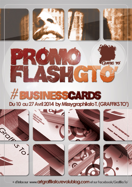 Promotion flash #business cards by Missygraphiksto