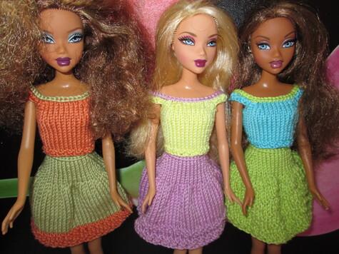 Top et jupe large pour barbie
