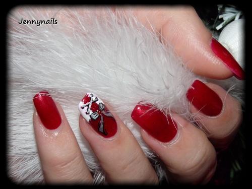 - Nail art - Accent : Corset de Noël