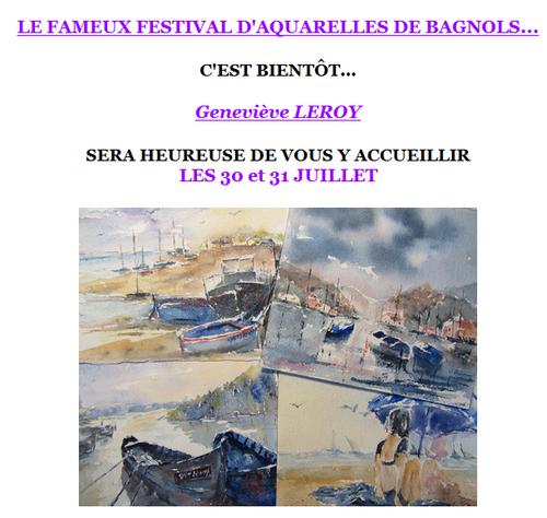 Geneviève LEROY au Festival des Aquarellistes à Bagnols