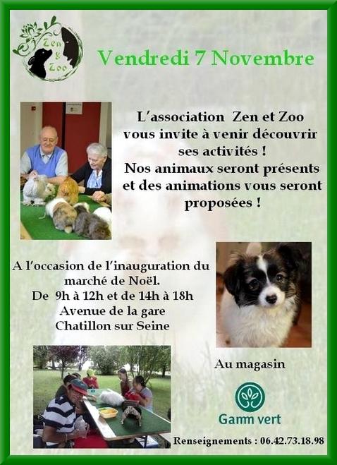 """L'association """"Zen et Zoo"""" sera présent au marché de Noël de Gamm Vert..."""