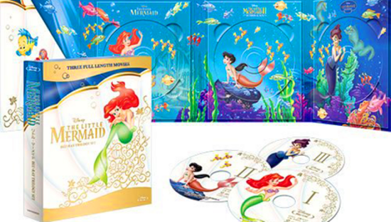 trilogy steelbook trilogia walt disney princess princesas blu ray 2013 fall otoño clasico la sirenit