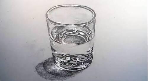 Dessin et peinture - vidéo 2337 : Comment dessiner un verre d'eau et la transparence des objets ?