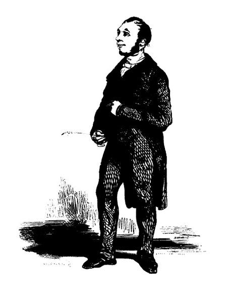 Le Notaire, dessin de Paul Gravani (1804-1866)