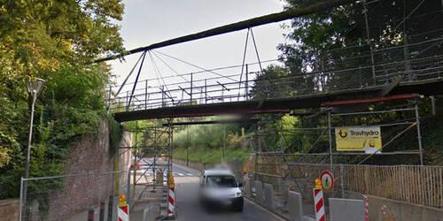 Wolu1200 : Une passerelle menace de s'effondrer à Woluwe-Saint-Lambert