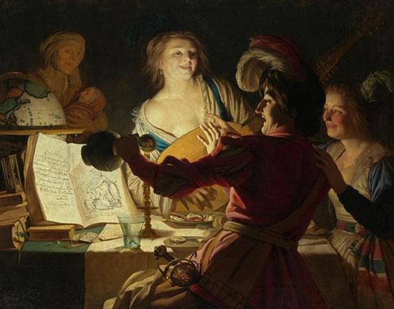 Gerrit Van Honthorst, L'Etudiant patachon, Bayerische Staatsgemäldesammlungen, Munich