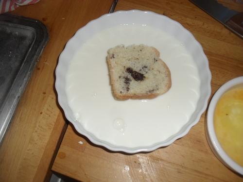 un petit dej gourmand : brioche perdue
