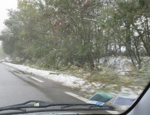 épisode neigeux sur l'ardèche