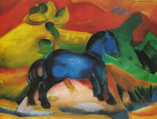 Franz Marc, Le cheval bleu, 1912