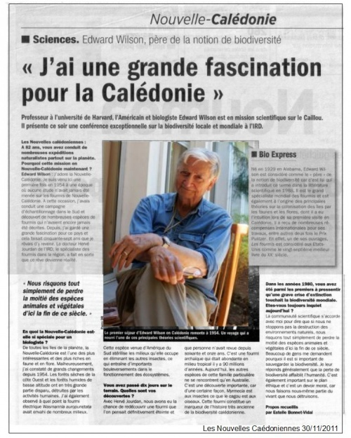 Novembre 2011 Les Nouvelles Calédoniennes - Actualités