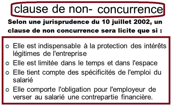 Clause de non concurrence dissertation