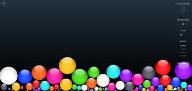 Gestion du volume sonore dans la classe - logiciel Bouncy Balls