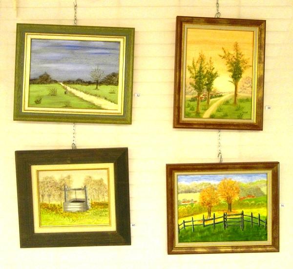 Le neuvième Salon de Peinture des Amis du Châtillonnais a présenté beaucoup de belles œuvres en aquarelles, huiles, collages.